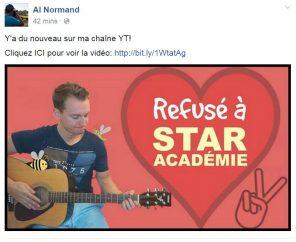 alex normand star academie