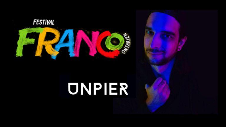 DJ Unpier à la direction artistique du Festival Franco-Ontarien pour la soirée du 13 juin.